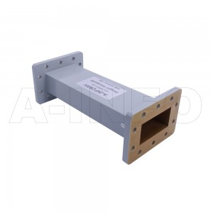 229WAL-200 WR229 Rectangular Straight Waveguide 3.3-4.9GHz with Two Rectangular Waveguide Interfaces