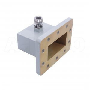 229WCAN Right Angle Rectangular Waveguide to Coaxial Adapter 3.3-4.9GHz WR229 to N Type Female