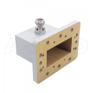 229WCAN_P0 Right Angle Rectangular Waveguide to Coaxial Adapter 3.3-4.9GHz WR229 to N Type Female