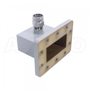 229WCANM Right Angle Rectangular Waveguide to Coaxial Adapter 3.3-4.9GHz WR229 to N Type Male