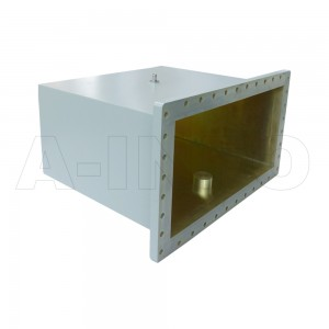 2100WCAN Right Angle Rectangular Waveguide to Coaxial Adapter 0.35-0.53GHz WR2100 to N Type Female