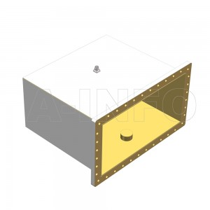 2100WCANM Right Angle Rectangular Waveguide to Coaxial Adapter 0.35-0.53GHz WR2100 to N Type Male
