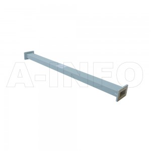 284WAL-1000 WR284 Rectangular Straight Waveguide 2.6-3.95GHz with Two Rectangular Waveguide Interfaces