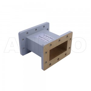284WAL-100 WR284 Rectangular Straight Waveguide 2.6-3.95GHz with Two Rectangular Waveguide Interfaces
