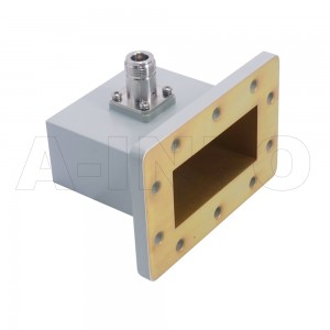 284WCAN Right Angle Rectangular Waveguide to Coaxial Adapter 2.6-3.95GHz WR284 to N Type Female