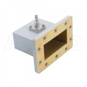 284WCAS Right Angle Rectangular Waveguide to Coaxial Adapter 2.6-3.95GHz WR284 to SMA Female