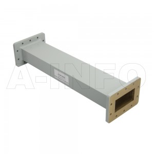 284WFA-10 WR284 General Purpose Waveguide Fixed Attenuator 2.6-3.95GHz with Two Rectangular Waveguide Interfaces