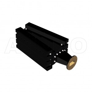 284WHPL3500_AP WR284 Waveguide High Power Load 2.6-3.95GHz with Rectangular Waveguide Interface