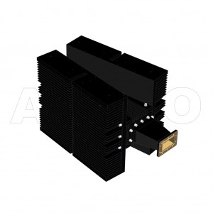 284WHPL5000_DM WR284 Waveguide High Power Load 2.6-3.95GHz with Rectangular Waveguide Interface