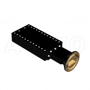 284WMPL1200_AE WR284 Waveguide Medium Power Load 2.6-3.95GHz with Rectangular Waveguide Interface