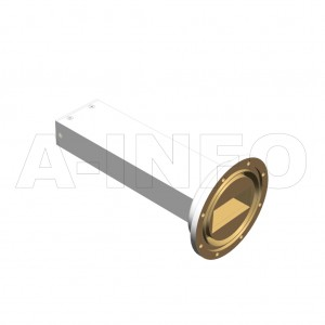 284WMPL45_AE WR284 Waveguide Low-Medium Power Load 2.6-3.95GHz with Rectangular Waveguide Interface