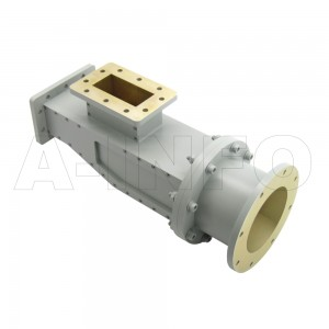 284WOMTWC329-06 WR284 Waveguide Ortho-Mode Transducer(OMT) 2.6-3.4GHz 83.62mm(3.294inch) WC329 Circular Waveguide Common Port