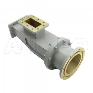 284WOMTWC329-06C_DPDPAM WR284 Waveguide Ortho-Mode Transducer(OMT) 2.7-2.9GHz 83.62mm(3.294inch) WC329 Circular Waveguide Common Port