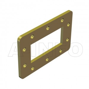 284WSPA-10 WR284 Customized Spacer(Shim) 2.6-3.95GHz with Rectangular Waveguide Interfaces