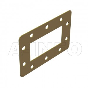 284WSPA-1 WR284 Customized Spacer(Shim) 2.6-3.95GHz with Rectangular Waveguide Interfaces