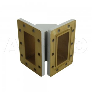 284WTEB-50-50_DPDM WR284 Miter Bend Waveguide E-Plane 2.6-3.95GHz with Two Rectangular Waveguide Interfaces