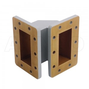 284WTEB-60-50 WR284 Miter Bend Waveguide E-Plane 2.6-3.95GHz with Two Rectangular Waveguide Interfaces
