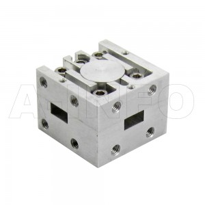 28WCIC-340360-20-2 WR28 Waveguide Circulator 34-36Ghz with Three Rectangular Waveguide Interfaces