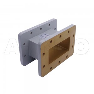 340WAL-75 WR340 Rectangular Straight Waveguide 2.2-3.3GHz with Two Rectangular Waveguide Interfaces