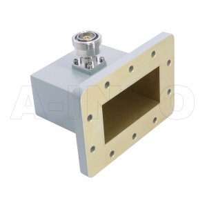 340WCA7/16 Right Angle Rectangular Waveguide to Coaxial Adapter 2.2-3.3GHz WR340 to 7/16 DIN Female