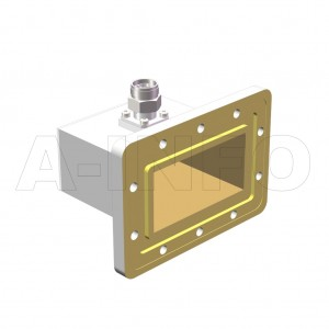 430WCANM_DM Right Angle Rectangular Waveguide to Coaxial Adapter 1.7-2.6GHz WR430 to N Type Male