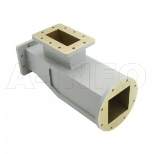340WOMTS72.5-06C WR340 Waveguide Ortho-Mode Transducer(OMT) 2.2-2.7GHz 72.5mm(2.856inch) Square Waveguide Common Port