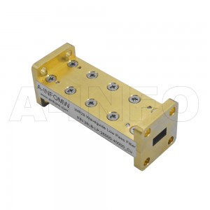 34LB-LP-22000-33000 WR34 Waveguide Low Pass Filter 22-33Ghz with Two Rectangular Waveguide Interfaces