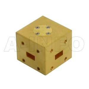 34WHT_Cu WR34 Waveguide H-Plane Tee 22-33GHz with Three Rectangular Waveguide Interfaces