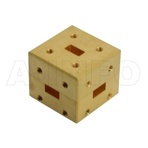 34WMT_Cu WR34 Waveguide Magic Tee 22-33GHz with Four Rectangular Waveguide Interfaces