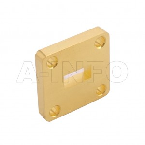 34WSPA14_Cu WR34 Wavelength 1/4 Spacer(Shim) 22-33GHz with Rectangular Waveguide Interfaces