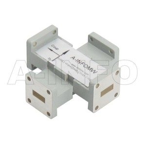 42WL+C-40_Cu WR42 Waveguide Cross Coupler WL+C-XX Type 18-26.5GHz 40dB Coupling with Three Rectangular Waveguide Interfaces