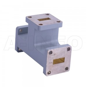 42WET_Cu WR42 Waveguide E-Plane Tee 18-26.5GHz with Three Rectangular Waveguide Interfaces