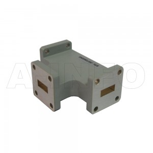 51WHT WR51 Waveguide H-Plane Tee 15-22GHz with Three Rectangular Waveguide Interfaces