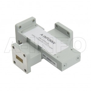 42WL+C-30_Cu WR42 Waveguide Cross Coupler WL+C-XX Type 18-26.5GHz 30dB Coupling with Three Rectangular Waveguide Interfaces