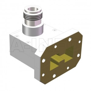 475DRWHCAN Right Angle High Power Double Ridge Waveguide to Coaxial Adapter 4.75-11GHz WRD475 to N Type Female