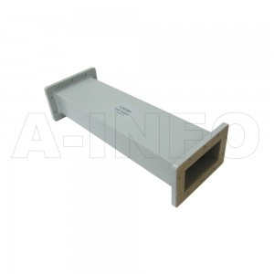 510WAL-500 WR510 Rectangular Straight Waveguide 1.45-2.2GHz with Two Rectangular Waveguide Interfaces