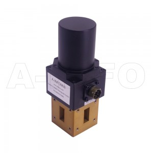 51WDESMD WR51 Rectangular Waveguide DPDT Latching Switch 15-22GHz E plane with four Rectangular Waveguide Interfaces