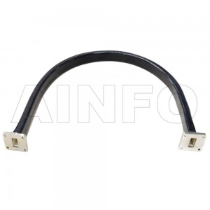 42WFT-1000 WR42 Flexible Twistable Waveguide 18-26.5GHz with Two Rectangular Waveguide Interfaces