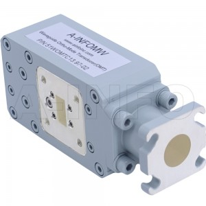 51WOMTC13.97-02 WR51 Waveguide Ortho-Mode Transducer(OMT) 15-22GHz 13.97mm(0.55inch) Circular Waveguide Common Port
