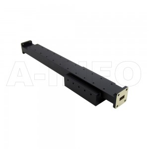 51WPFA100-10 WR51 Waveguide Medium Power Precision Fixed Attenuator 15-22GHz with Two Rectangular Waveguide Interfaces