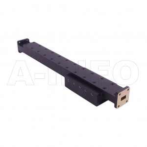 51WPFA100-30 WR51 Waveguide Medium Power Precision Fixed Attenuator 15-22GHz with Two Rectangular Waveguide Interfaces