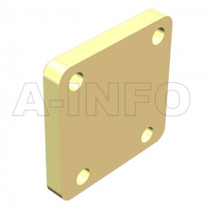 51WS_Cu_PA WR51 Waveguide Short Plates 15-22GHz with Rectangular Waveguide Interface