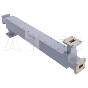62WDXC-50 WR62 Waveguide High Directional Coupler WDXC-XX Type E-Plane Bend 12.4-18GHz 50dB Coupling with Four Rectangular Waveguide Interfaces