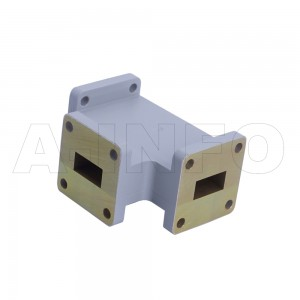 62WHT WR62 Waveguide H-Plane Tee 12.4-18GHz with Three Rectangular Waveguide Interfaces