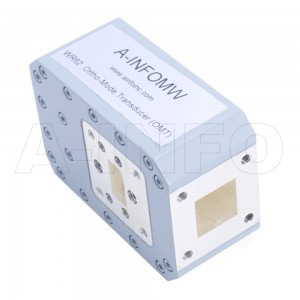 62WOMTS15.799-02 WR62 Waveguide Ortho-Mode Transducer(OMT) 12.4-18GHz 15.799mm(0.622inch) Square Waveguide Common Port