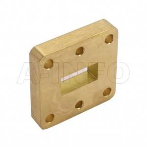 62WSPA14_Cu WR62 Wavelength 1/4 Spacer(Shim) 12.4-18GHz with Rectangular Waveguide Interfaces