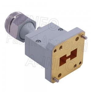 650DRWECANM_Cu Endlaunch Double Ridge Waveguide to Coaxial Adapter 6.5-18GHz WRD650 to N Type Male
