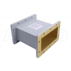 650WAL-200 WR650 Rectangular Straight Waveguide 1.12-1.7GHz with Two Rectangular Waveguide Interfaces