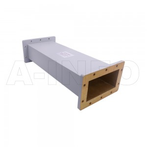 650WAL-500 WR650 Rectangular Straight Waveguide 1.12-1.7GHz with Two Rectangular Waveguide Interfaces