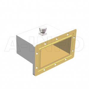 650WCA7/16_DM Right Angle Rectangular Waveguide to Coaxial Adapter 1.12-1.7GHz WR650 to 7/16 DIN Female